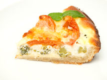 Quiche slice on a plate Stock Images
