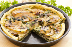 Quiche with spinach Royalty Free Stock Images