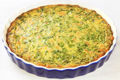 Quiche with Spinach and Tuna royalty free stock photography