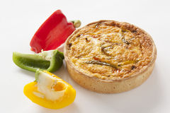Quiche three peppers Stock Images