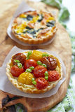 Quiche with tomatoes Royalty Free Stock Images
