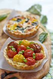 Quiche with tomatoes Royalty Free Stock Photography