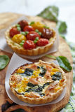 Quiche with tomatoes Royalty Free Stock Image