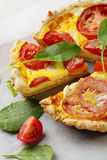 Quiche with tomatoes stock photo