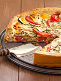 Quiche with tomatoes and zucchini Royalty Free Stock Photo