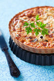 Quiche with tuna Stock Photography