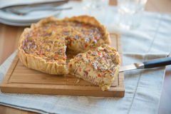 Quiche with vegetables and tuna Stock Images