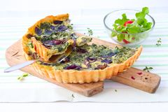 Quiche vegetal Imagem de Stock Royalty Free