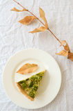 Quiche z kurczakiem i brokułami obrazy stock