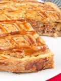 Quiche z mięsem i marchewkami obrazy stock