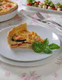Quiche with zucchini and tomato baked cheese Stock Image