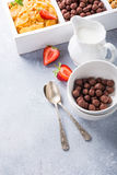 Quick breakfast cereals Royalty Free Stock Photography