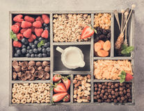 Quick breakfast cereals Royalty Free Stock Images