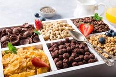 Quick breakfast cereals Stock Photos
