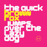 The quick brown fox jumps over the lazy dog lowercase letters font Royalty Free Stock Photo