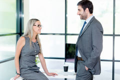 Quick catch up between colleagues Stock Image