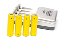 Quick charger and accumulators Stock Photos