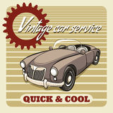 Quick and Cool - Vintage Car Service poster Royalty Free Stock Photo