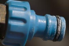 Quick coupler garden hose Stock Photo