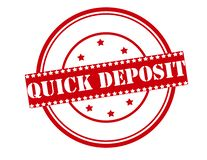 Quick deposit. Rubber stamp with text quick deposit inside,  illustration Stock Photo