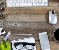 Quick desktop setup for workplace Royalty Free Stock Photos