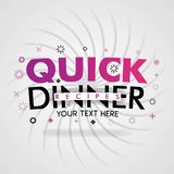 Quick dinner recipes with easy cheap food and italian recipe. Can be use for landing page, web ui, banner, poster, template, flyer. can also be for various stock illustration