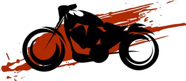 Sketch of a moterbike over a red spot Royalty Free Stock Photo