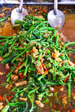 Quick-fried water spinach seasoned Royalty Free Stock Images