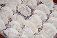 Quick frozen dumplings Royalty Free Stock Images