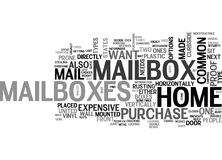 A Quick Guide To Home Mailboxes Word Cloud. A QUICK GUIDE TO HOME MAILBOXES TEXT WORD CLOUD CONCEPT Stock Images