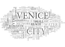 A Quick Guide To Venice Word Cloud Royalty Free Stock Photo