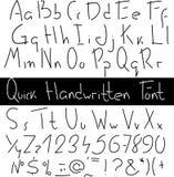Quick handwritten font Stock Photography