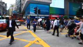 QUICK LIFE IN HONG KONG. FULL HD stock footage