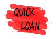 Quick loan banner. Quick loan red banner Stock Images