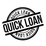 Quick Loan rubber stamp Stock Images