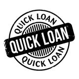 Quick Loan rubber stamp. Grunge design with dust scratches. Effects can be easily removed for a clean, crisp look. Color is easily changed Stock Photos