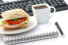 Quick lunch Royalty Free Stock Photography