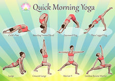 Quick Morning Yoga Royalty Free Stock Photography