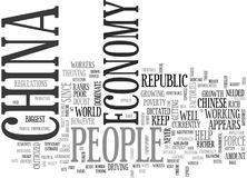 A Quick Overview Of The Economy Of China Word Cloud Royalty Free Stock Images