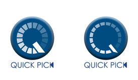 Quick pick. An illustration with two speedometers symbols and Quick Pick text Vector Illustration