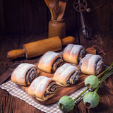 Quick Poppy Seed Rolls Stock Image