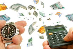 Quick profits in the forex market. Stock Image