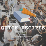 Quick Recipes Menu Cooking Food Concept Royalty Free Stock Photography