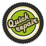 Quick Repair badge Stock Image