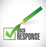 Quick response check mark illustration Stock Images