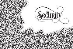 Quick Response Code Security Illustration. QR Code for Supermarket, E-commerce, Shop, Store Etc royalty free illustration