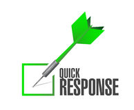 Quick response dart check mark illustration design Stock Photo