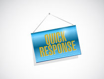Quick response hanging banner illustration Royalty Free Stock Image