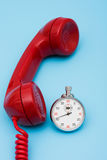 Quick Response Time. Stop watch with telephone, very quick response time Royalty Free Stock Photo