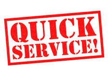 QUICK SERVICE! Royalty Free Stock Photo